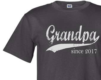 Grandpa since ANY year, screen print t-shirt, Father's Day gift, personalized for him, grandpa shirt, grandfather gift, graphic tee