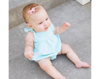 Mini Bow Headband, Baby Headband, Newborn Headband, Nylon Bow, Pink Bow, Baby Girl Gift, Easter Gift, Tiny Bow, Baby Accessory