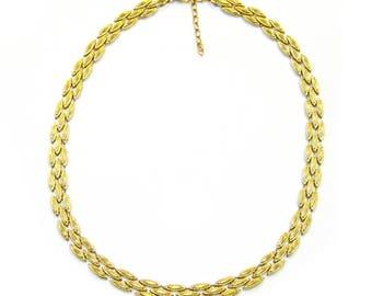 10K Gold Oval Link Necklace - X3173