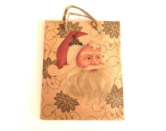 Father gift bag Christmas Vintage - Kraft