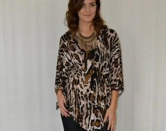 SALE Butterfly Tunic in Leopard