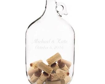 Personalized Wedding Guest Book Alternative Cork Bottle