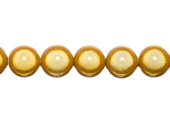 Magical 6mm - GOLD round beads 10 x