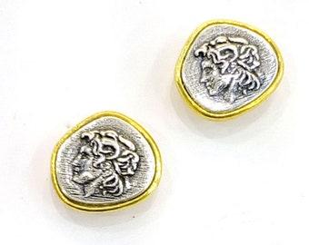 Alexander the Great Silver Earrings