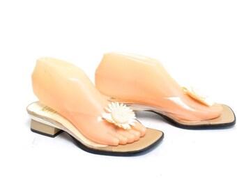 Vintage 90's Transparent Clear Daisy Sandals