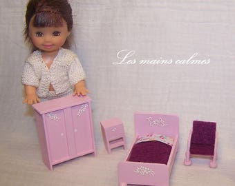 Miniature bedroom for doll