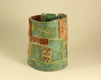 Handmade ceramic vessel
