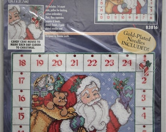 Bucilla Countdown to Christmas Advent Wall Hanging #83816 Counted Cross Stitch