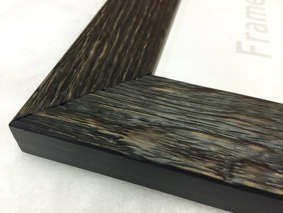 Black Rustic Reclaimed Distressed Barn Wood Picture Frame, Natural ...