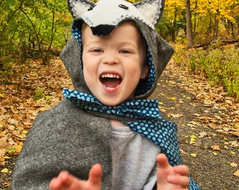 Toddler Wolf Cape Costume Little Red Riding Hood Halloween Boys Costume