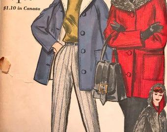 Fantastic Vintage Reversible Stadium Jacket and Slim Pants Pattern---Vogue 5120---Size 12  Bust 32  UNCUT