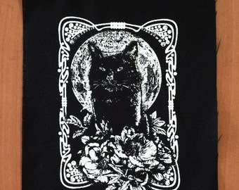 Moon Behind Cat Patch | Patches | Punk Patches