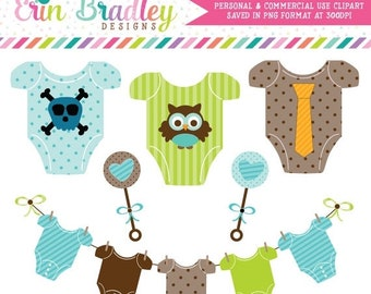 80% OFF SALE Baby Boy Tees Clipart Commercial Use Nursery Clip Art Graphics