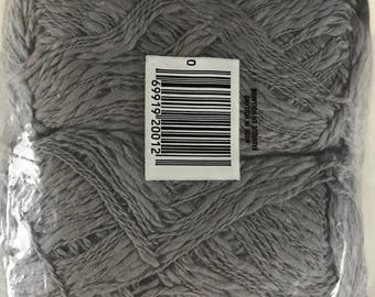 Tessan Cotton Carole Slub YARN~Grey gray~4 Sk+Pattern~MIP~Tessan~knit crochet+