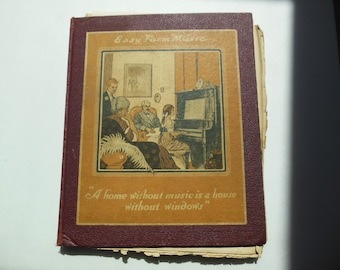 Vintage Easy Form Music Book 1914 sheet music