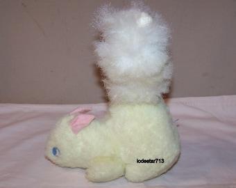 Vintage Plush Toy 1950's Plush Animal Wind Up Music Squirrel by Eden