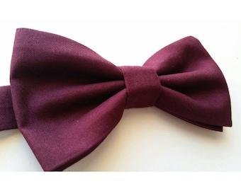 Burgundy Bowtie / Wedding Bow ties / Groomsmen Bowtie / Kids Bowtie / Newborn Bowtie / Wine Bowtie / Ring Bearer Bowtie / Dark Red Bowtie