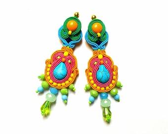 Soutache Earrings - Leila
