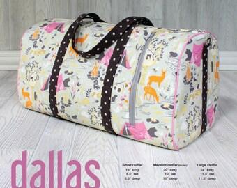 Swoon Patterns: Dallas Vintage Duffel - PDF Bag Purse Duffle Sewing Pattern
