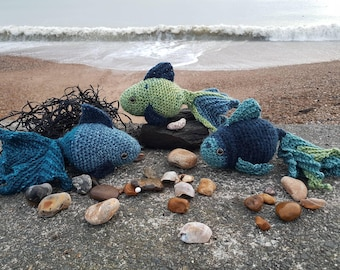 Handmade Crochet Fish for decoration and playing