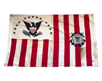 Vintage U.S. Coast Guard Ensign Flag No. 4 1915-1953