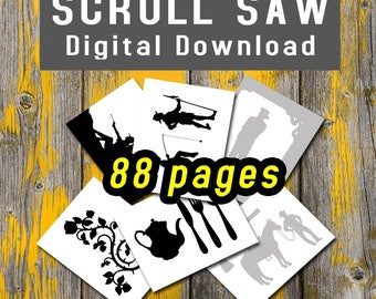 Scroll saw templates etsy country life and western scroll saw patterns pdf book digital download templates 88 pages woodworking printable fandeluxe Images