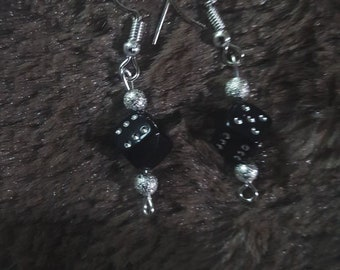 Handmade Earrings with silver plated hooks
