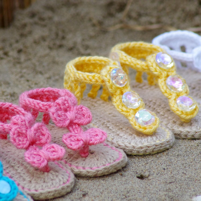 Crochet Baby Pattern Sandals Free barefoot sandal pattern