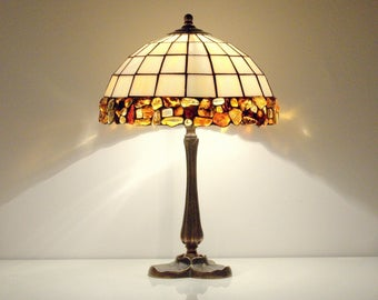 Bedside table lamps. Bedside lamp. Table lamp. Stained glass lamp. Tiffany table lamp. Tiffany lamp. Bedside lamps pair. Baltic amber lamp.