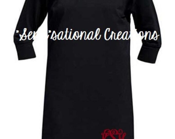 Monogrammed Dress, Monogrammed Game Day Dress, Football Game Dress, Fall Dress, Monogrammed Fall, 3/4 Sleeve Dress