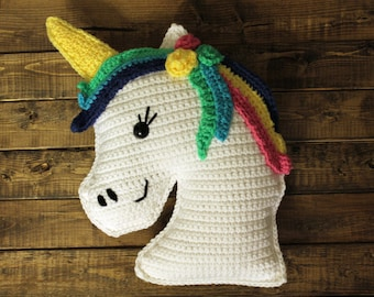 Crochet | Unicorn Pillow