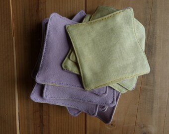 Organic cotton and linen cleaning wipes
