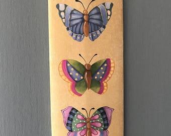 Butterfly Board, Butterfly, Barrel Stave, Sandy LeFlore, Home Decor, Butterflies, free shipping