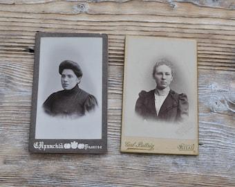 Antique Cabinet card, Antique Photo, Cabinet Portrait. Set of 2.