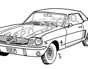 key design car old ford mustang