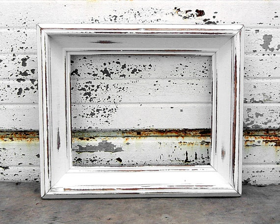 8 x 10 large chunky bright white picture frame shabby chic rh etsy com shabby chic white frame set shabby chic white picture frame set