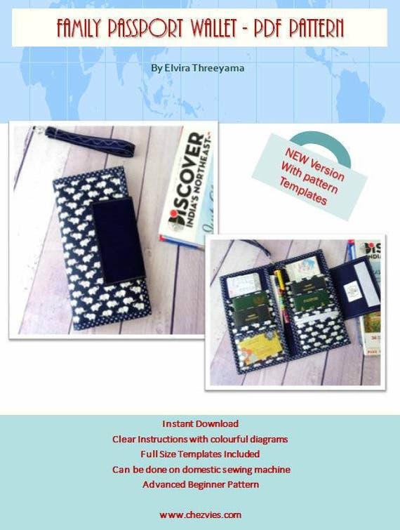 Family Passport Travel Holder PDF SEWING PATTERN Hold 6