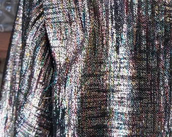 Space is the Place Fabulous Vintage Metallic Silver Rainbow Jacket