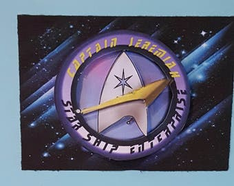 Star Trek Birthday Card, Star Trek Greeting Card, Enterprise Greeting Card, Federation Greeting card