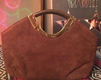 1970's Suede Clutch