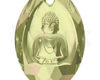 Swarovski 6871 Buddha - Luminous Green (LUMG)-28 x 19.8 mm