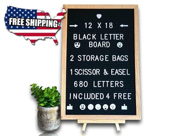 12x18 Felt Letter Board w/ 680 Letters -  Gift For Her - Mothers Day Gift - Message Board - Office Gift - Gift For Women  - Wedding Gift