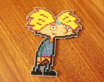 Hey Arnold! - Arnold pixel cross stitch