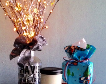 Christmas Tissue Box Cover, Tissue Box Cover, Tissue Box, Kleenex Box Cover, Bathroom Accessories,Bathroom Decor, Handmade, Office Decor