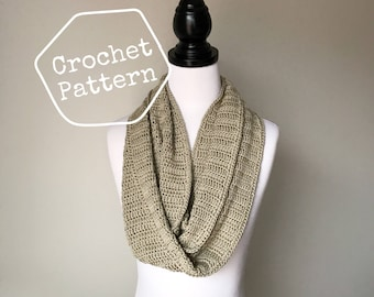 Crochet Pattern - The Reva Scarf - Circular Infinity Scarf - Instant PDF Download