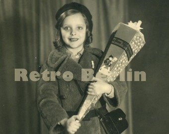 Vintage Photo Girl 1930s, My First Day of School Photo, Photo of School Boy 1930s, Collector Photo