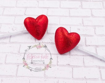 Valentines Day Bobby Pins / Heart Bobby Pins / Valentines Day Hair Pins