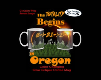 Oregon Solar Eclipse Color Change August 21st 2017 Coffee Mug 11oz Bigfoot
