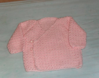 pink kimono type sweater