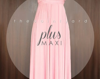MAXI Plus Size Blush Bridesmaid Dress Convertible Dress Infinity Dress Multiway Dress Wrap Dress Wedding Dress Twist Dress Prom Dress